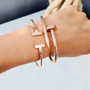 Gold Bracelet Set Dainty Jewelry Gold T Bangle